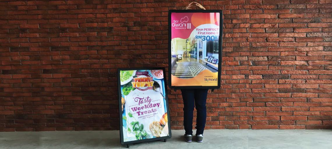 LED Walking Board - Digital Sandwich Board Advertising