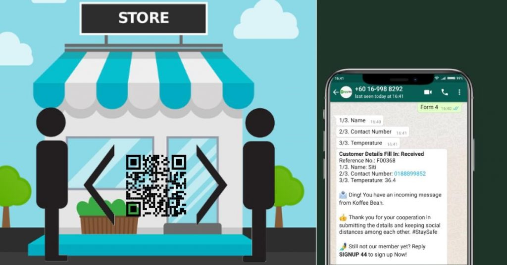 WappBS - WhatsApp Business Solution Tip 4 - Collect Details in Contactless Way